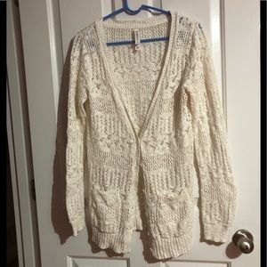 Large Aeropostale button up cardigan with pockets